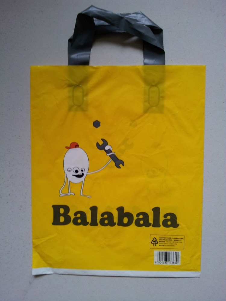 Recycle personalizado saco de compras de plástico saco plástico de impressão