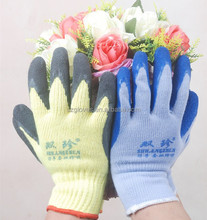 High Quality Competitive Price Safety Working Gloves Latex crinkle finish Glove