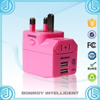 2015 Top quality European American to Hk UK travel power plug adaptor