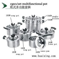 13 pcs Korean Style Stainless Steel Cooking Pot Set for Kitchen