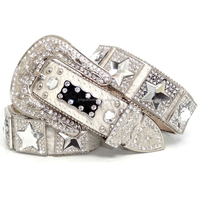 Western Style Horse Hair Rhinestone Star Belt for Men And Women