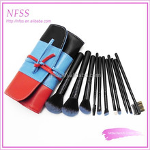 custom logo brush set 11pcs makeup brush set fade hair cosmetic brushes synthetic make up brush