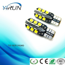 Car LED Light T10 2835 24SMD LED Wedge Door light Instrument Side Bulb