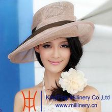 Natrual 100% sinamay ladies' straw hats