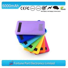 5000mah Ultrathin power bank external battery power pack for mobile phone