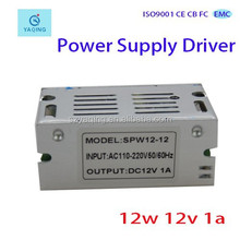 12v 1amp power supply 12w 12v 1a security monitor driver and adapter