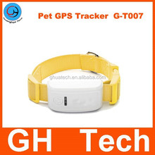 GH mini dog gps gprs tracker G-T007 with six color gps hunt dog and long life battery dog collar tracker