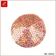 Fashion Decorative Sequined Silicone Girls Nipple Cover For Underwear Show