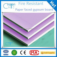 High Impact Resistance Paper Faced Drywall /Gypsum Board Supplier For Ceiling Design/System