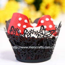 wedding laser cut dancing butterfly cupcake wrappers butterfly design