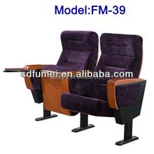 Best price modern folding church chair for prayer with armrest FM-39