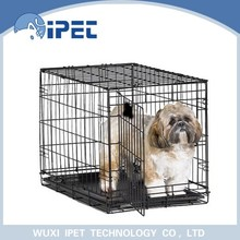 Ipet large foldable metal solid pet crate kennel for dogs