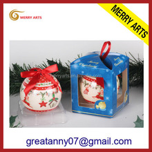 new products 2016 home interior decoration items plastic full printing chrismas ornament balls high quality