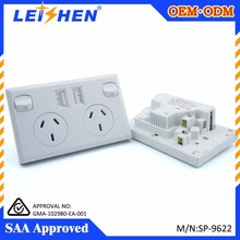 Australia version USB dual plug electronic plug&sockets power plugs Micro USB wall charger with SAA approval