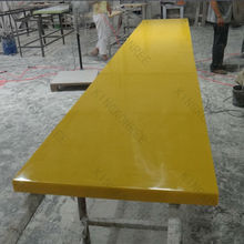 Solid surface long design table top