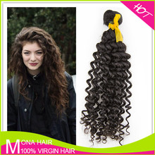 Hot selling 7A top grade wholesale unprocessed virgin indian natural curly