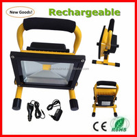 18650 battery portable rechargeable led flood light 20w