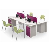simple workstation steel frame 2 person office desk