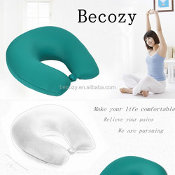 Soft vibrating neck massage pillow