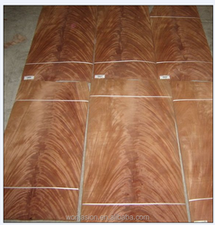 Laminate wooden flooring withMahogany Crotch veneer sheets used for decorating the house