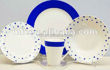brand new ODM/OEM 16pc fine porcelain round with decal dinnerware set