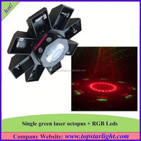 china wholesale market direct selling single green+177*10mm rgb leds green laser octopus christmas laser light show