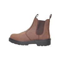yellow leather safety footwear