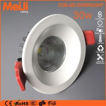 new products 2014 recessed round and square 30w high cri dimmable led downlight