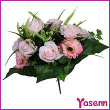 spring bush artificial flower , artificial silk flower bush , flower decoration products