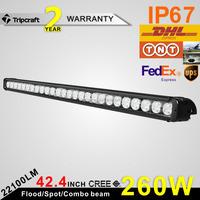 Single Row 12 24 Volt 20W 40W 60W 100W 120W 180W 240W 260W LED Offroad Light Bar, LED Driving Light Bar, Tractor LED Light bar