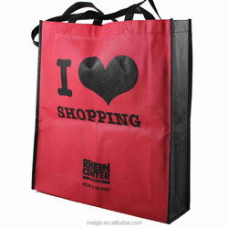 Custom silk screen printing non woven bag/ recycle pp non woven shopping bag