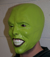 The Mask Green latex mask Jim Carrey Costume Fancy Dress Halloween film loki