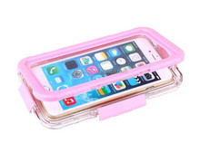 """Newest Full Button Fingerprint Touch Waterproof Swimming Phone Case For phone 6 4.7"""""""