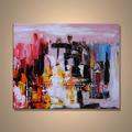 popular moderna hecha a mano decorativos comerciales abstracto pintura de la lona