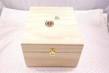 Plain wood keepsake box