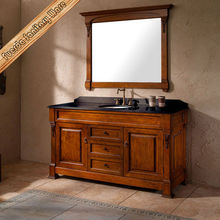 antique bathroom vanity with double sink countertop