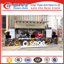 Light duty dongfeng moible stage truck with hydraulic stage platform ,stage move truck