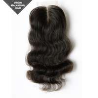 Quick Delivery Soft & Comfortable Natural Color VV Hair Extension 10 Inch Malaysian Body Wave Hair Closure Piece