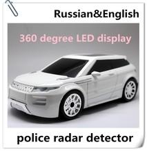 Best selling car accessories 360 Degree car styling speed gun voice alert radar/laser detector Spanish/Russian/English Voice
