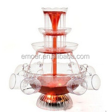 Hot selling home party 3 tiers plastic wine fountain