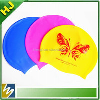 wholesale adult and children size printing silicone swim cap