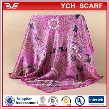 best partner with uniform, printed magic satin scarf for airline stewardess