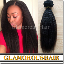 New Fashion Trend In New York 2016 Natural Black Color Kinky Straight Yaki Hair Weave