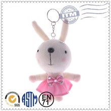 2014 China factory custom style cute rabbit keychain toy