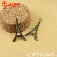 Europe popular jewelry accessory romantic tower charms for lady bags DPC024