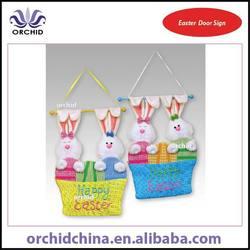Easter Door Sign Happy Easter Rabbit Hanging Decoratiions