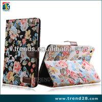 new style retro flower folio leather case for ipad mini2