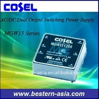 Cosel Dual Output Switching Power Supply 15V 15W MGW151215
