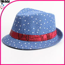 Europe and the United States the new children's hat Blue star red tape comfortable Children's jazz cap hat