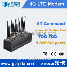 16 ports USB interface 4g lte/tdd/fdd modem support bulk sms/mms edge